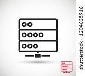 server vector icon | Shutterstock .eps vector #1204635916