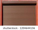 metal rollers shutters... | Shutterstock . vector #1204644136