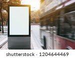 a tourist double decker is... | Shutterstock . vector #1204644469
