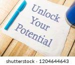 unlock your potential  business ...   Shutterstock . vector #1204644643