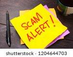 scam alert  internet fraudulent ...   Shutterstock . vector #1204644703