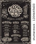 christmas menu template for... | Shutterstock .eps vector #1204645603