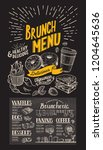 brunch restaurant menu on... | Shutterstock .eps vector #1204645636
