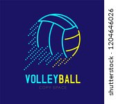 volleyball rushing logo icon... | Shutterstock .eps vector #1204646026