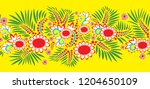 ukrainian national folk ribbon... | Shutterstock .eps vector #1204650109