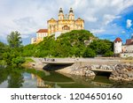 melk abbey monastery or stift... | Shutterstock . vector #1204650160