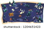 deadly cave 2d game maps and... | Shutterstock .eps vector #1204651423