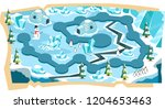snow landscape 2d game maps...