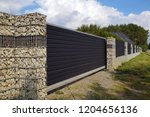 the entrance gate and a very... | Shutterstock . vector #1204656136