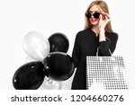 happy woman in sunglasses in...   Shutterstock . vector #1204660276