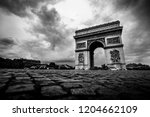 arc de triomphe   paris  france ... | Shutterstock . vector #1204662109