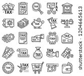 taxes icon set. outline set of...   Shutterstock .eps vector #1204665613