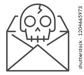 hacking email icon. outline... | Shutterstock .eps vector #1204665973