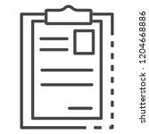 paper holder icon. outline...   Shutterstock .eps vector #1204668886