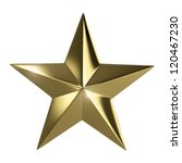 Golden Star  Isolated With...
