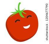 smile tomato icon. flat...   Shutterstock .eps vector #1204677790