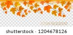 abstract autumn panorama with... | Shutterstock .eps vector #1204678126