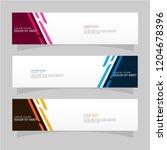 vector abstract banner design... | Shutterstock .eps vector #1204678396