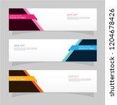 vector abstract banner design... | Shutterstock .eps vector #1204678426