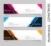 vector abstract banner design... | Shutterstock .eps vector #1204678450