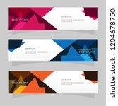 vector abstract banner design...   Shutterstock .eps vector #1204678750