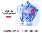 website development concept... | Shutterstock .eps vector #1204689739