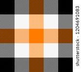 halloween tartan plaid.... | Shutterstock .eps vector #1204691083