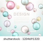 creative poster with 3d... | Shutterstock .eps vector #1204691320