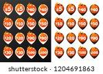 discount burning pins. 32 black ...   Shutterstock .eps vector #1204691863