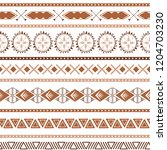 seamless ethnic tribal texture... | Shutterstock .eps vector #1204703230