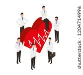 people staff medical heart rate   Shutterstock .eps vector #1204714996