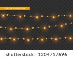 christmas decorations  isolated ... | Shutterstock .eps vector #1204717696