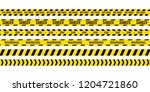 black and yellow police stripe. ... | Shutterstock . vector #1204721860