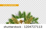 christmas design. composition... | Shutterstock .eps vector #1204727113