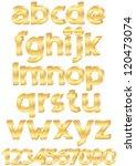 gold alphabet set of letters... | Shutterstock .eps vector #120473074