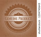 genuine product badge with... | Shutterstock .eps vector #1204740643