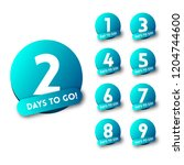 days to go countdown. sale... | Shutterstock .eps vector #1204744600