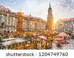 christmas market striezelmarkt...   Shutterstock . vector #1204749760