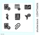 simple set of 8 icons related... | Shutterstock .eps vector #1204756606