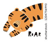 cute tiger vector illustration. ... | Shutterstock .eps vector #1204756993