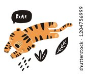 cute tiger vector illustration. ... | Shutterstock .eps vector #1204756999