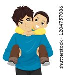illustration of a teenage guy... | Shutterstock .eps vector #1204757086