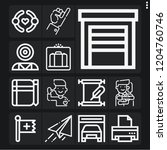 set of 13 hand outline icons... | Shutterstock .eps vector #1204760746