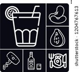 set of 6 drink outline icons...   Shutterstock .eps vector #1204767613
