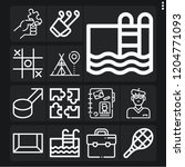 set of 13 leisure outline icons ...   Shutterstock .eps vector #1204771093