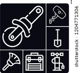 set of 6 handle outline icons...   Shutterstock .eps vector #1204771306