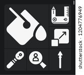 set of 6 tool filled icons such ... | Shutterstock .eps vector #1204776949