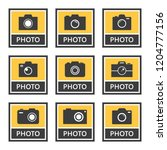 photo camera icons and signs... | Shutterstock .eps vector #1204777156