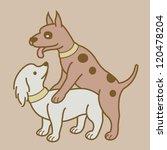 erotic couple dogs version 1.... | Shutterstock .eps vector #120478204