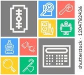 simple set of  10 outline icons ... | Shutterstock .eps vector #1204782436
